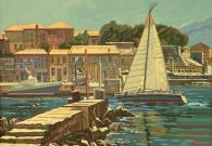 Евстигнеев А.В. На острове Крит. 60х80 см. х.м. 2017г