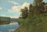 Бирюков Ю.А. Река Лама в летний день. 60х80 см. х.м. 2017 г