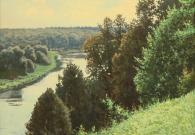 Бирюков Ю.А. Высокий берег. Река Руза. 60х80 см. х.м. 2017 г (2)