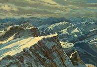 Евстигнеев А.В. Горы Германии. 60х80 см.х.м. 2017 г