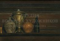 Коротков Н.Н. В старом доме. 1992 г. х.м. 30х65