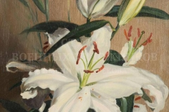 Ананьев Д.А. Белые лилии. 2012 г. х.м. 40х30 см