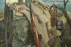Ананьев Д.А. В походе. Озеро Хасан. 1938 год. 2016 г., х.м. 135х120