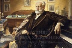 Овечкин Н.В.  П. Чайковский. 1989 г. х.м. 200х150.