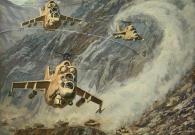 Сибирский А.В. МИ-24. Афганистан 100х120 х.м. 2014 г.