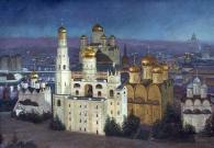 Сибирский А.В. Ночной Кремль. 1998 г. 100х170