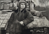 Смирнов Е.А. Учения. Механник-водитель танка. уг. бум. 2017 г