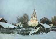 Смирнов Е.А. Вечер в деревне. х.м. 2017 г