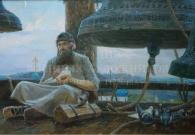 Трошин С.Н. Звонарь. 80х140. х.м. 2006 г.