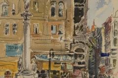 Маторин М.В. Будапешт 1945 г., б. акв.