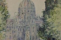 Маторин М.В. Будапешт. 1945 г. б.акв. 25х18