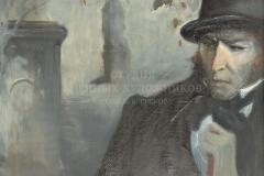 Алексеев А.Е. Предчувствие. Пушкин перед дуэлью.1998 г. х.м. 100х80