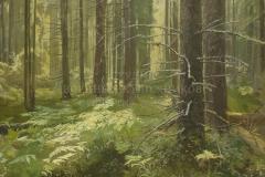 Ананьев А.М. Освещенный лес. 2016 г. х.м. 150х180 см