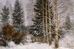 Авакимян О.А. Зимний лес.  2005 г 60х70см