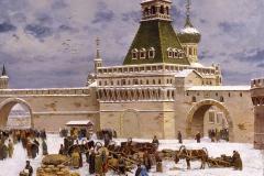 Авакимян О.А. Башня у Никольских ворот. 2004г. х.м. 90х120