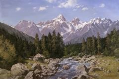 Авакимян О.А. В горах Кавказа. 2007 г. х.м. 100х150