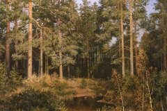 Авакимян О.А. В сосновом бору. 2004 г. Холст, масло. 100х120