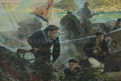 Ездаков О.В. Высадка десанта. Западная Лица. 1941 год. 2014 г. х.м. 100х157