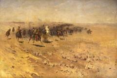 Греков М.Б. Кавалерийская атака. 1927 г. х.м. 140х205