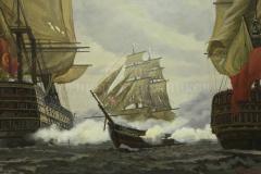 Евстигнеев А.В. Бой брига «Меркурий» с двумя турецкими кораблями 14 мая 1829 года. 2013г.х.м. 120x180см