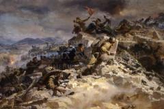 Мальцев П.Т. Штурм Сапун горы. 1958г. х.м.100x150см