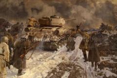 Марченко Г.И. Начало разгрома фашистских войск под Сталинградом. 1975 г. х.м. 170х300 см