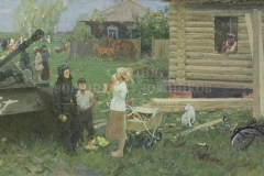 Данилевский Е.И. Дорогие гости. 1982 г.,  х.м.