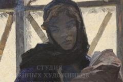 Михайлов А.С. Тревога. Колыбельная 1965 г.,  х.м.