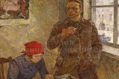 Усыпенко Ю.Ф. Секретарь райкома. 1972 г.х.м. 160х133 см