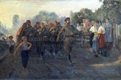 Жигимонт П.И. Солдатская песня. 1954 г., х.м.