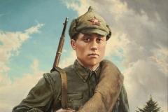 Ездаков О.В. Боец Красной Армии Есенькин С.Ф. 2012г. х.м 100x75 см
