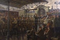 Ананьев Д.А. Белорусский вокзал, 1941г. Ансамбль Александрова 2008 г.,  х.м.