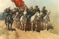 Греков М. Б. Трубачи Первой Конной. 1934 г.,  х.м.