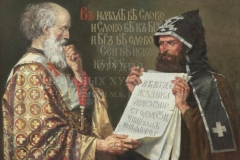 Колупаев Н.В. Кирилл и Мефодий. 2013г.х.м. 100х140