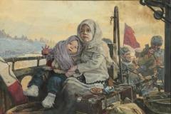 Самсонов А.М. Дети Сталинграда. 2012 г. х.м. 100х150 см