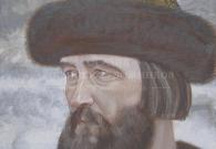 Коротков Н.Н. Иван Калита 1997 г.  Картон, темпера. 52х52