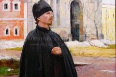 Крившинко И.П. Портрет иеромонаха Иннокентия 50х60, х.м. 2009 г.