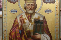 Крившинко И.П. Николай чудотворец, дерево, масло, 170х140см, 2017 г.