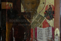Крившинко И.П. Николай чудотворец,икона в процессе удаления поверхностных загрязнений