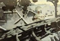 Лебедев И.М, «Герой Советского Союза В.Г. Зайцев» папье-маше, масло, лак, 2014 г.