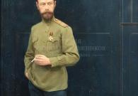 Лебедев И.М, Николай II. 2013 г., папье-маше, масло, лак.
