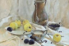 Камынина Е.В. Натюрморт с яблоком . Х.м. 2009 г.
