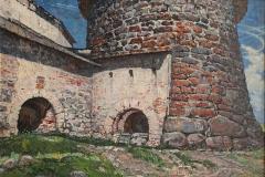 Ананьев М.А. Старая крепость ,1974 г., х.м.