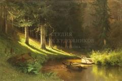 Мещерский А.И.  Хвойный лес. 1889 г.,  х.м.