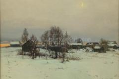 Минеева П.В. Зима, х.м.,  2017 г.