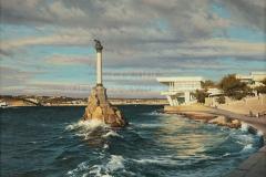 Сытов А.К. Памятник погибшим кораблям в Севастополе. 2016 г., х.м.
