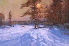 Таутиев В.Б.  Зимнее солнце, х.м., 1999