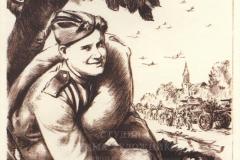 ГОЛОВАНОВ Л.Ф. Дойдем до Брелина. 92х64 см, плакат. 1945-