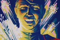 Ваганов А.Г., Чеботарёв А.А. С праздником Победы! 2017 г. Оргалит, темпера