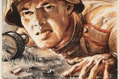 ЖУКОВ Н.Н. Немецкий танк здесь не пройдет. 85х60 см, плакат. 1943